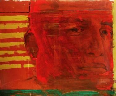 "Saatchi Art Artist Loredana Găină; Painting, ""Sitting In A Cafe 4"" #art"
