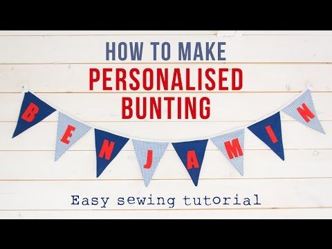 How to make personalised bunting » Maybush Studio