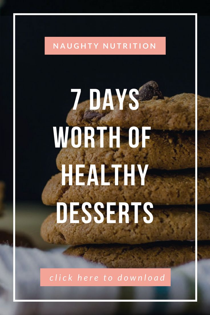 Download your free copy of our '7 Days Of Healthy Desserts' cookbook. #glutenfree #plantbased #naughtynutrition