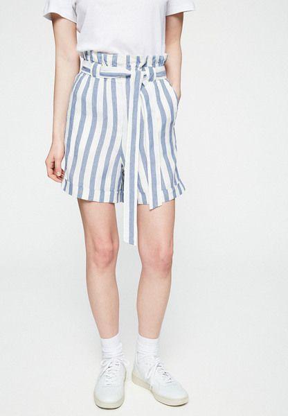 ARMEDANGELS Damen Eliaa Block Stripe – Shorts Aus Bio-leinen