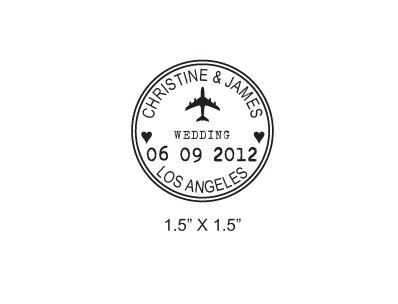 rubber stamps wedding. sale custom airplane wedding passport save the date rubber stamp stamps m