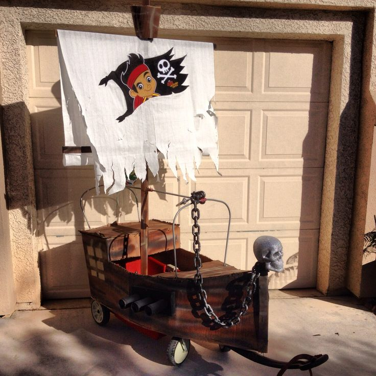 Red Flyer wagon converted into a Pirate Ship! #halloween