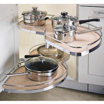 Hafele ''LeMans II'' Kitchen Blind Corner Organizer for Full Height Door and Door/Drawer Applications