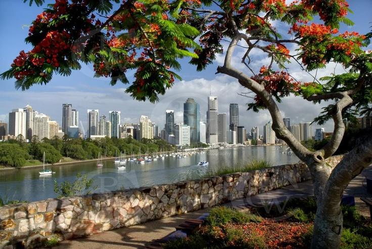 Brisbane City from Kangaroo Point.