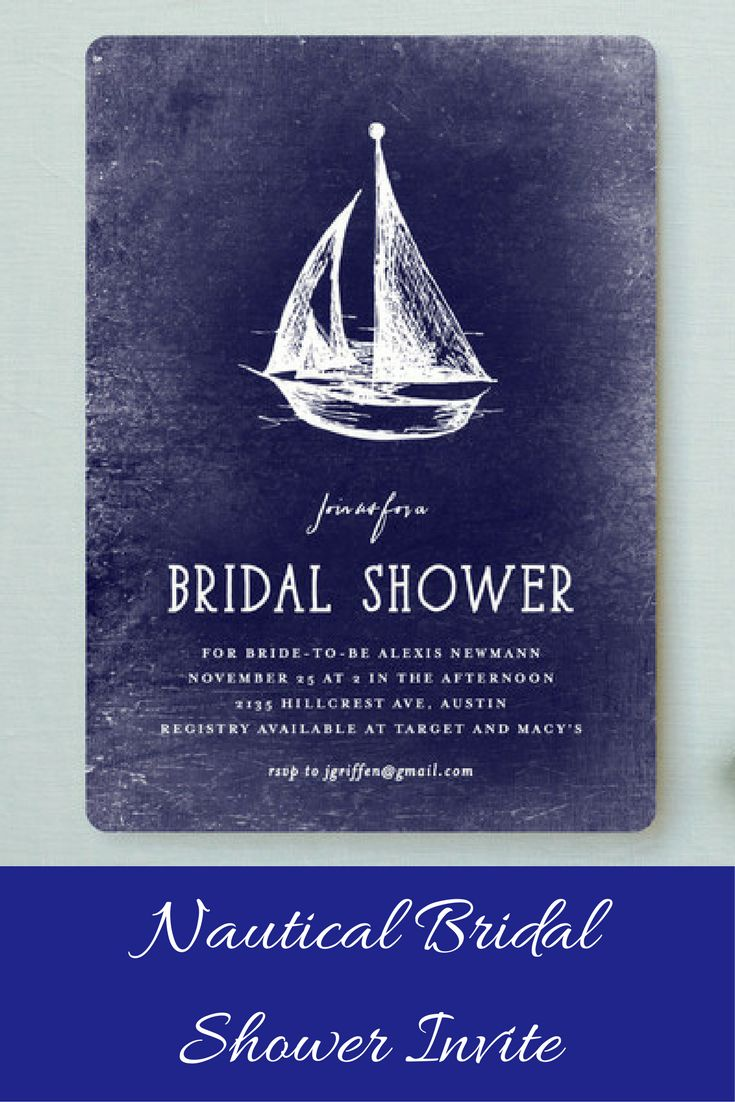 recipe themed bridal shower invitation wording%0A Nautical Bridal Shower Invitations  ad  invitations