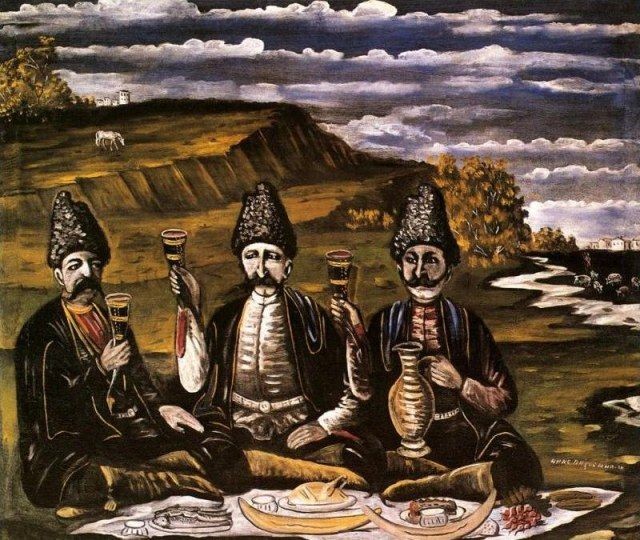 Razzle-dazzle of three princes - Niko Pirosmani, 1909