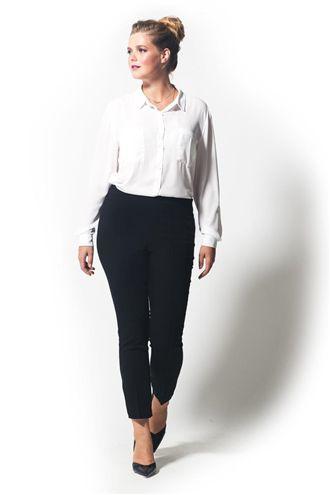 Lexi Ütü Dikişli Kısa Siyah Pantolon