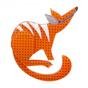 Erstwilder - Nelly Numbat (Orange Resin Brooch)