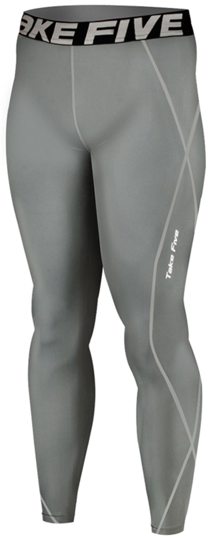 New 019 Skin Tights Compression Leggings Base Layer Grey Running Pants Mens (2XL). Men's long Pants compression Tights made using Take Five technology. Compression fit bolsters muscle support and increases circulation. UVA/UVB Protection - Take Five compressoin protects your skin from UVA/UVB radiation during your outdoor workout. Great for skiing, snowboarding, training, competing, and all weather sports and activities. Machine washable.