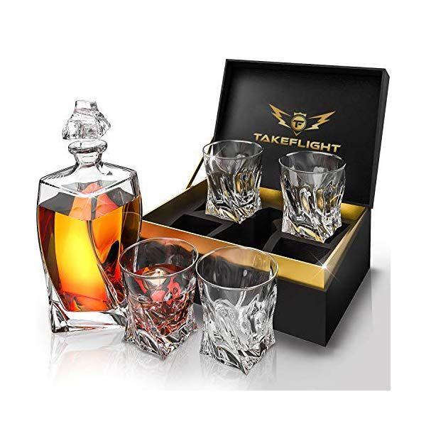 Whiskey Glass Set Twist Decanter Set Decanter Set Whiskey