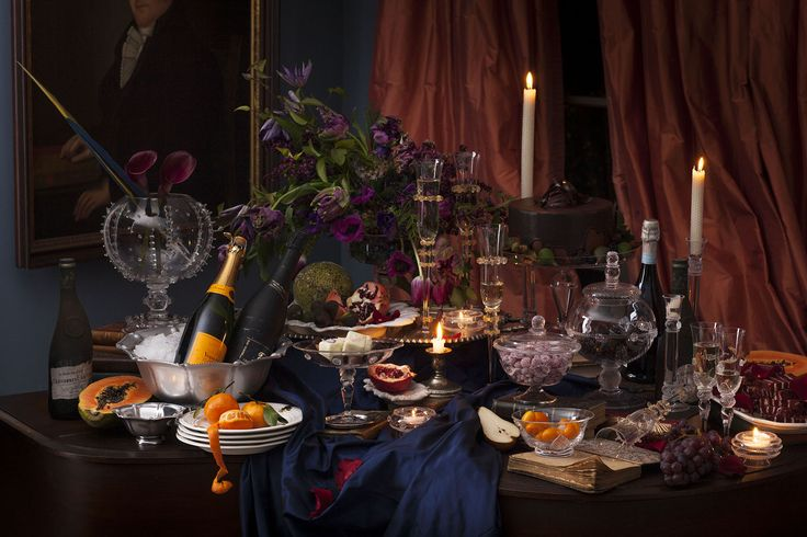 Cheers to a decadent ending...or an effervescent beginning! Pop the bubbly and scatter about intricate vessels filled with sumptuous sweet treats for an easy elegant evening.