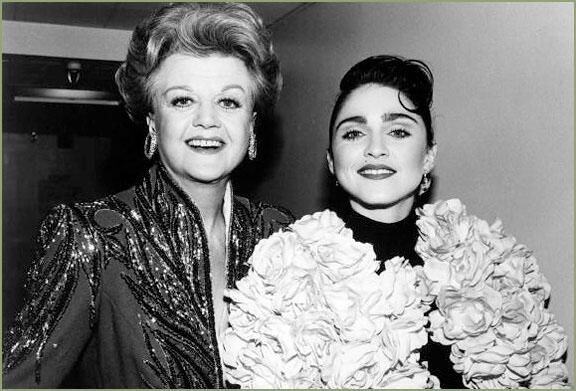Dame Angela Lansbury and Madonna at the 1988 #TonyAwards.