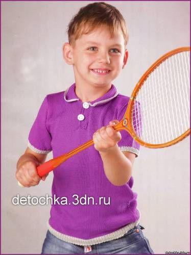 Вязаная рубашка - поло для мальчика - Вязание джемпера для мальчиков - Вязание мальчикам - Вязание для малышей - Вязание для детей. Вязание спицами, крючком для малышей