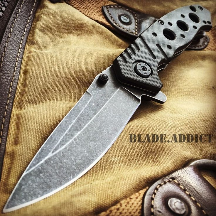 "8"" BALLISTIC Stonewash Tactical Spring Assisted Open Combat Army Pocket Knife"