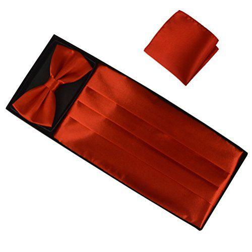 Fan-tastik Mens Silk Grossgrain Bow Tie and Cummerbund Set with a Pocket Square [ Crimson ] Elviros http://www.amazon.co.uk/dp/B00ZWQ5IUY/ref=cm_sw_r_pi_dp_nDj0wb0E8BRXN