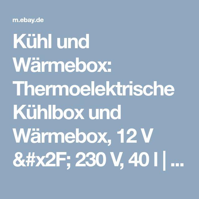 Kühl und Wärmebox: Thermoelektrische Kühlbox und Wärmebox, 12 V / 230 V, 40 l  | eBay