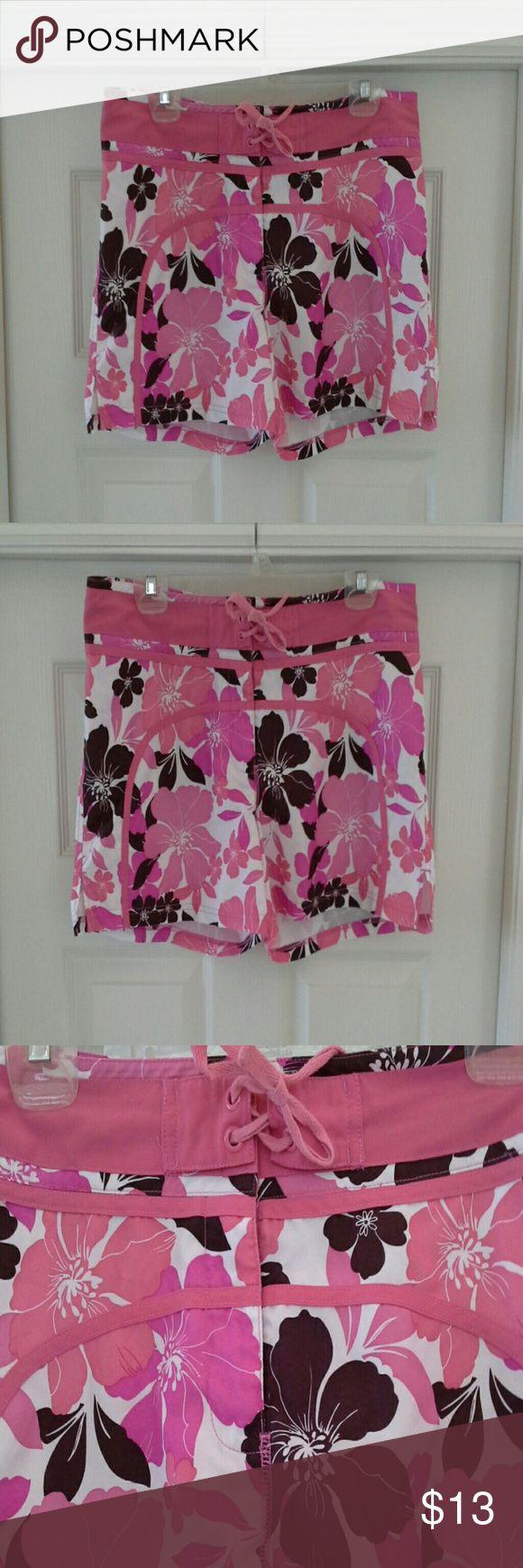 Women's girls Board shorts swimsuit *EUC *Velcro/zipper/and top tie *(BB1) Swim