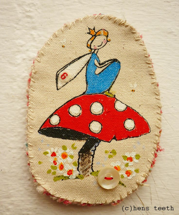 Hens Teeth Fairy Brooch