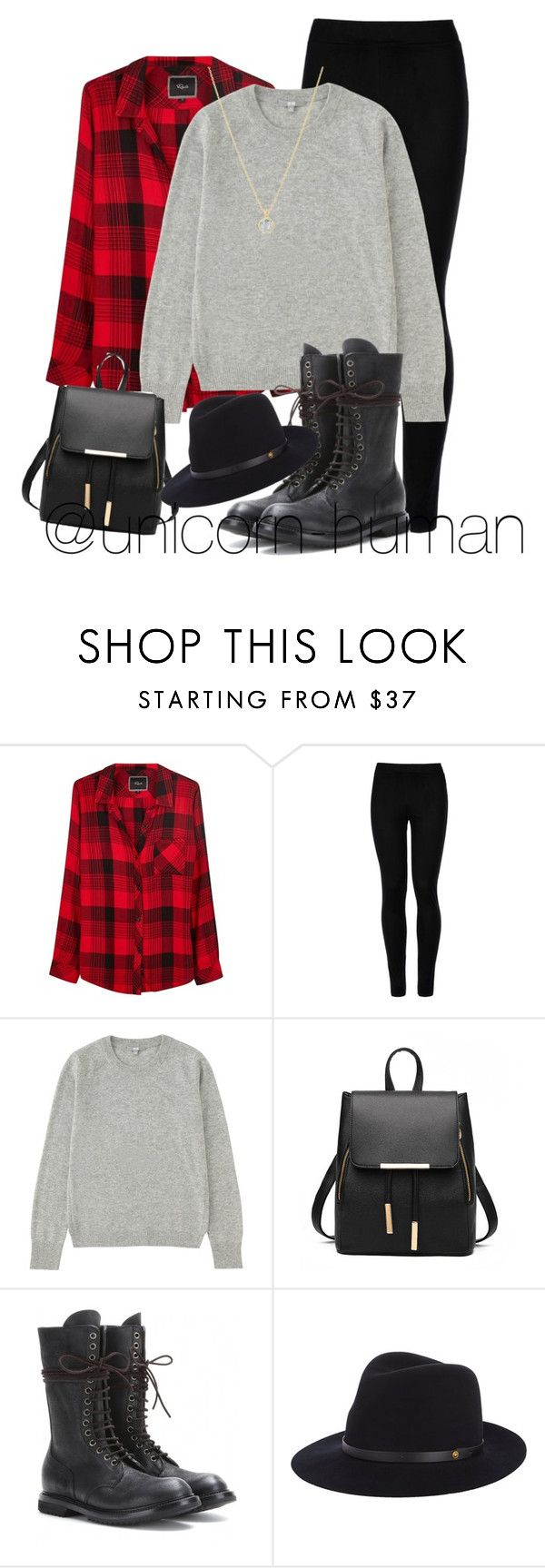"""Untitled #1701"" by unicorn-human ❤ liked on Polyvore featuring Rails, Wolford, Uniqlo, Rick Owens, rag & bone and Dinny Hall"