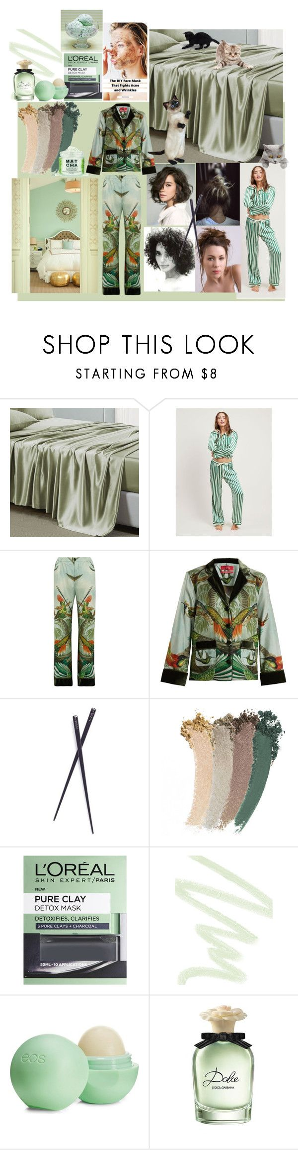 """""""Sage Silk"""" by reflect-n-inspire ❤ liked on Polyvore featuring interior, interiors, interior design, home, home decor, interior decorating, Morgan Lane, F.R.S For Restless Sleepers, France Luxe and Gucci"""