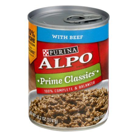 Purina Alpo Prime Classics With Beef Dog Food 13.2 oz. Can