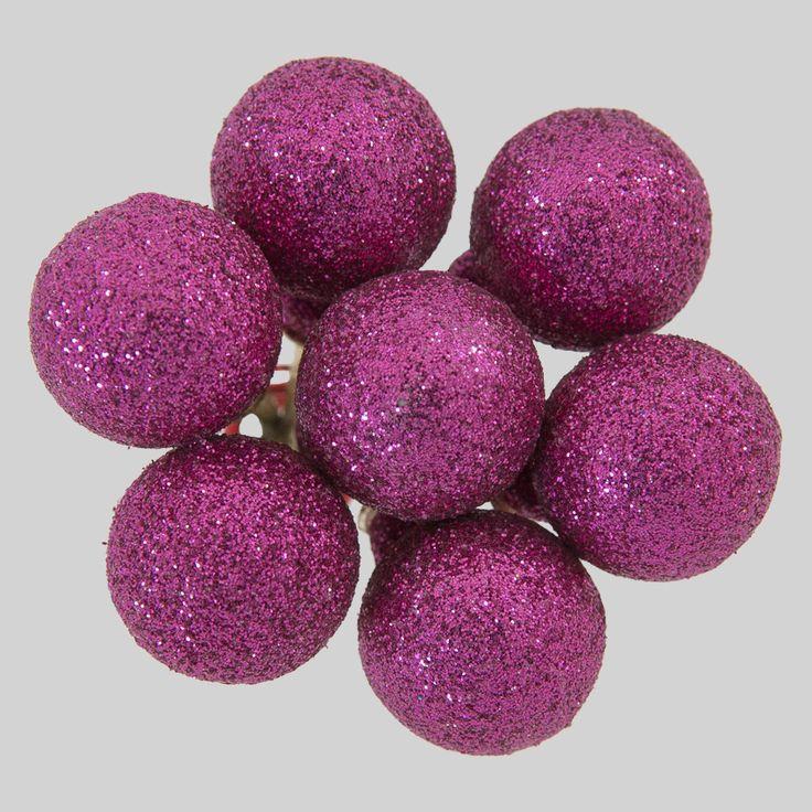 20mm Cerise Glitter Cluster  Code: BACL002PIGL