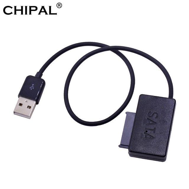 CHIPAL SATA II to USB Adapter USB 2 0 to SATA 13Pin Cable