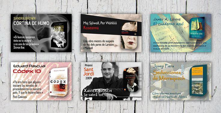 Diseño de banners ebooks Xavier Bosch y otros autores | Dolphin Tecnologías