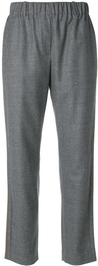 Incotex cropped tapered trousers