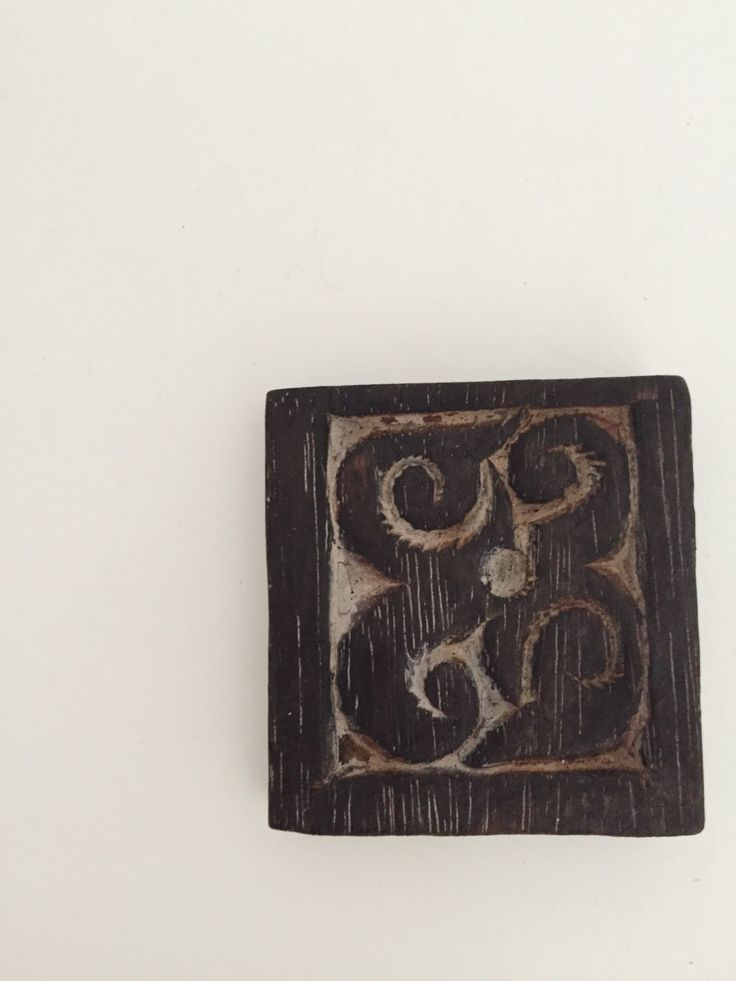 Wood Coaster, Hand Crafted, Borneo Prints, Hand Carved, Set of 4 by BorneoBandits on Etsy