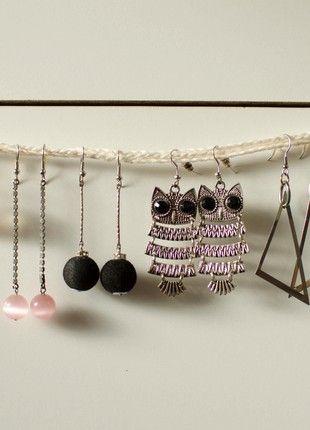 Kupuj mé předměty na #vinted http://www.vinted.cz/doplnky/nausnice/18337674-ruzne-nausnice-oranzove-ruzove-cerne-sovy-trojuhelniky