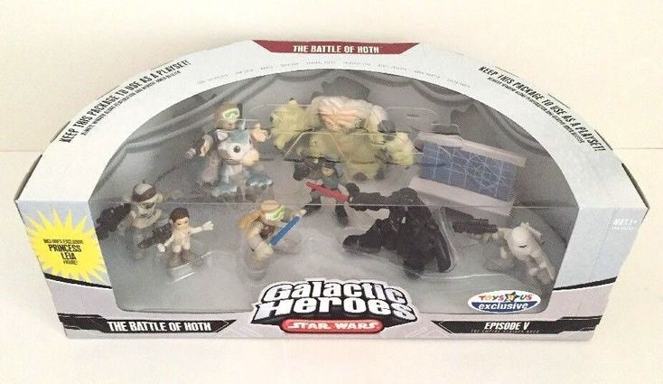 Star Wars Galactic Heroes The Battle of Hoth Toys R Us Exclusive Figure Playset