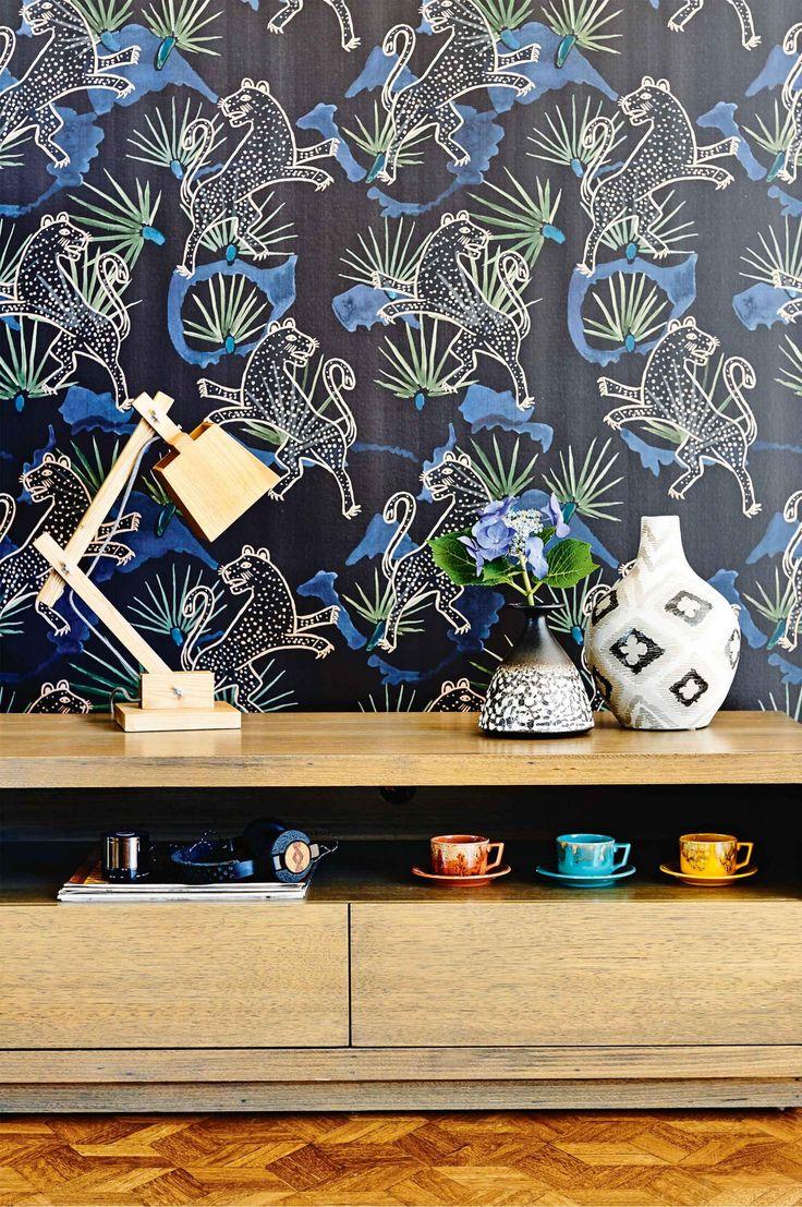 La créatrice Katie Graham de la marque The Family Love Tree a modernisé la nouvelle demeure familiale au décor des années 70 en mixant les styles.