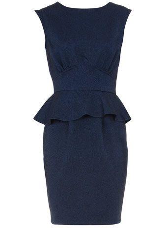 Blue peplum herringbone dress....for the professional wardrobe I don't have