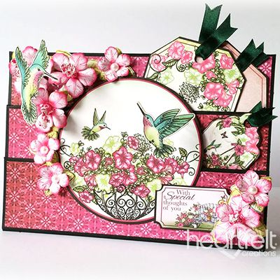 Heartfelt Creations - Hummingbird and Petunia Multifold Project