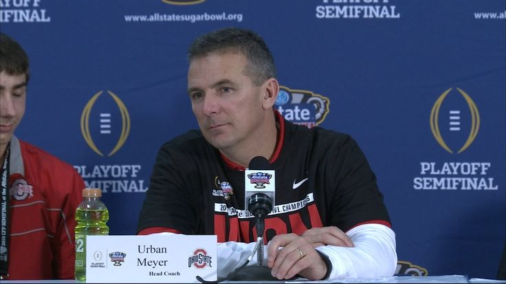 The Ohio State Coach is in shock at hearing the final score at the Rose Bowl.