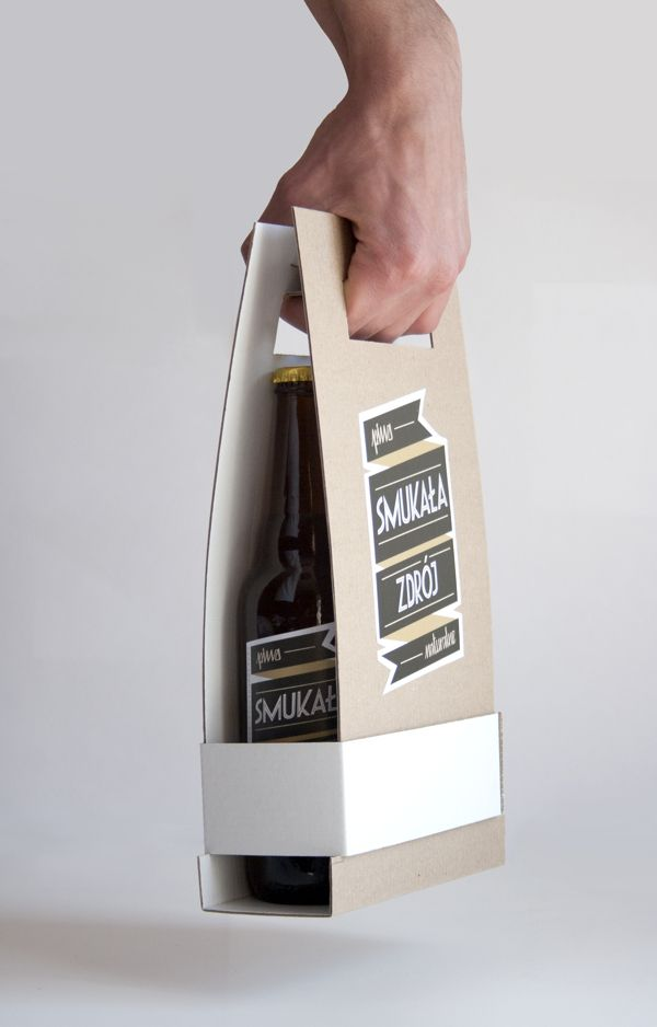 Smukała Zdrój - Beer packaging by Zuza Rogatty, via Behance