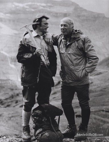 "Rest in Peace George Kennedy ~ Clint Eastwood, George Kennedy in ""The Eiger Sanction"" (1975). Director: Clint Eastwood."
