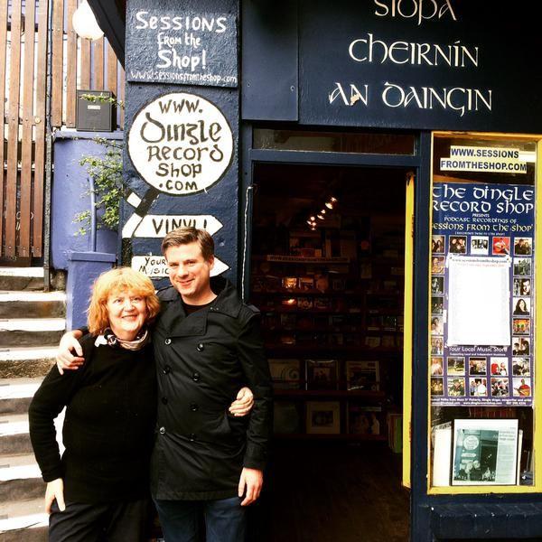 Mazz with Cian Ó Cíobháin from An Taobh Tuathail at Dingle Record Shop. www.dinglerecordshop.com