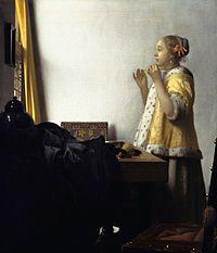 «Женщина с жемчужным ожерельем» 1662/1665 55 × 45 см. Холст, масло. Старая национальная галерея, Берлин.