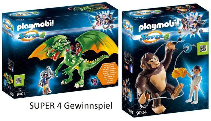 nur noch heute: wir verlosen zwei tolle SUPER 4 Playmobil Sets!  #Anzeige #Gewinnspiel #Verlosung