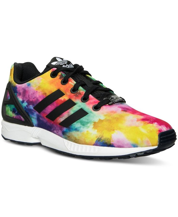 buy popular 69bb5 46cea ... adidas Girls Zx Flux Print Casual Sneakers from Finish Line ...