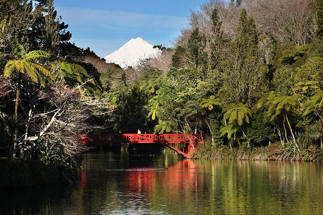 Mt Taranaki from Pukekura Park, New Plymouth, New Zealand