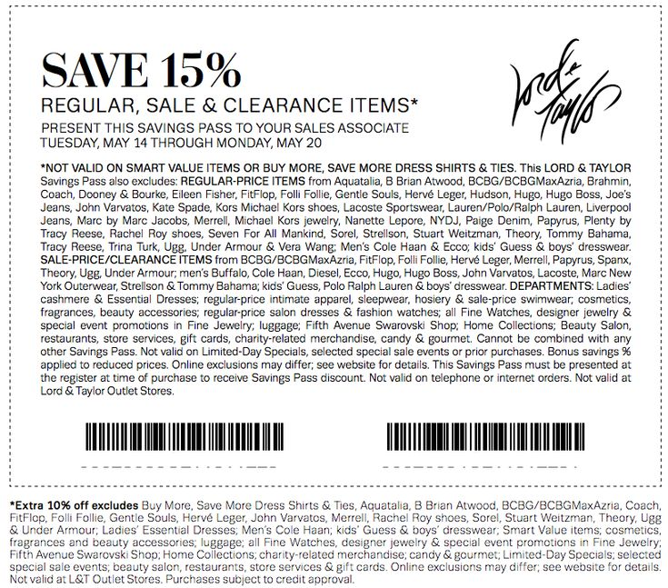 photograph relating to Lord and Taylor $15 Printable Coupon identified as Discount codes for lord and taylor 2018 / Namecoins coupon codes