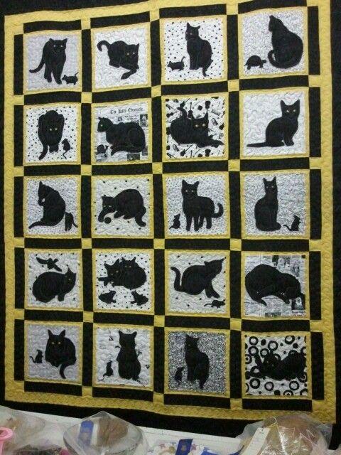 Black Cat Quilt Quilts Pinterest Black Cats And Quilt