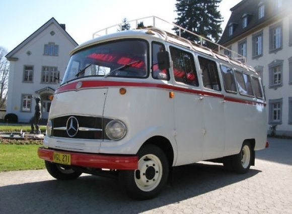 1958 Mercedes Benz 319 Panoramabus Fensterbus Camp Tour Bus For Sale Front