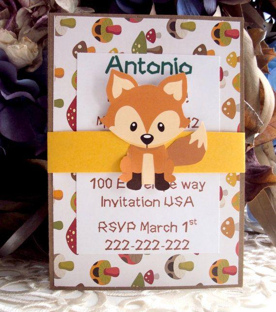 Woodland Forest Invitation, Childrens Birthday Invitation on Etsy, $30.00
