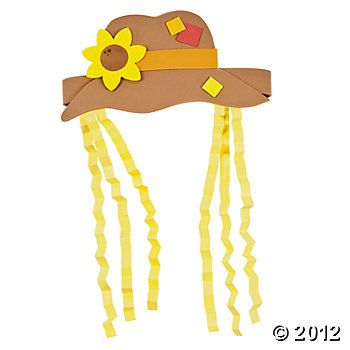 Scarecrow Hat Craft Kit, Hats & Masks, Crafts for Kids, Craft & Hobby Supplies - Oriental Trading