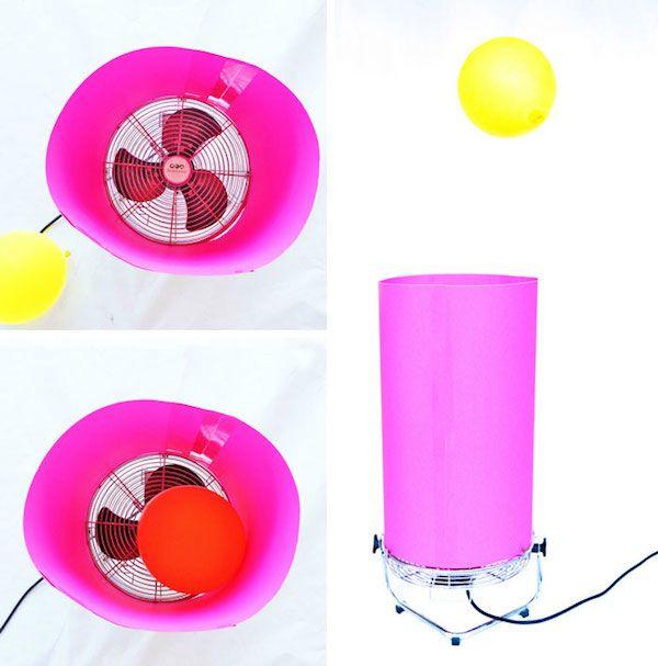 Experimentos para niños, globo danzarín Divertidos experimentos para niños con un globo y un ventilador. Experimentos para niños para comprender la acción de un vórtice de aire. Más en http://www.pequeocio.com/experimentos-ninos-globo-ventilador/