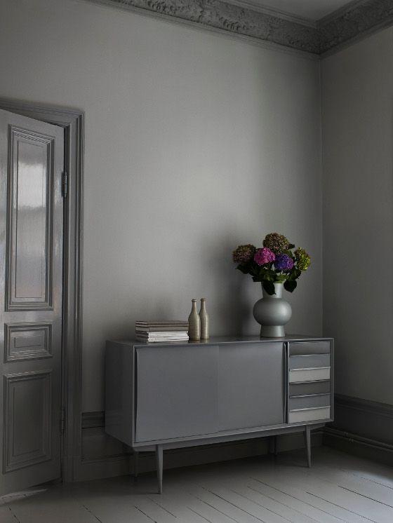 GREY - stylist Camilla Krishnaswamy grey living room and sideboard